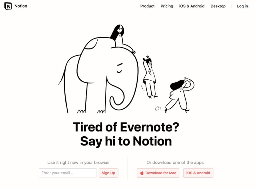 targeting evernote's unsatisfied customers