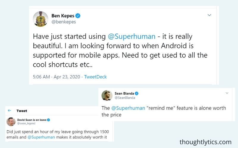 Superhuman's word of mouth