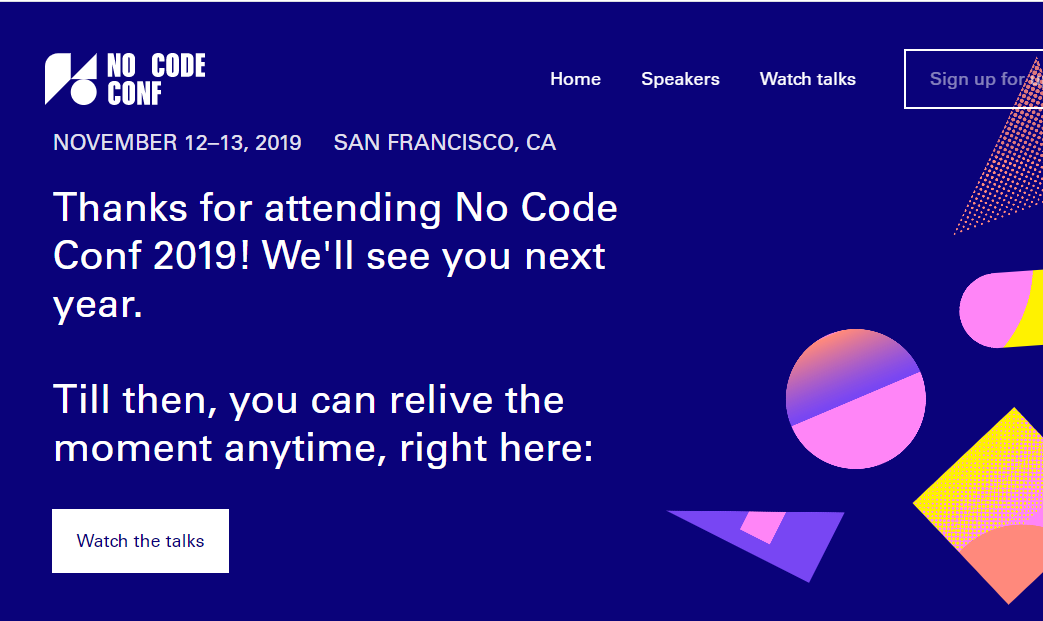 no code conference